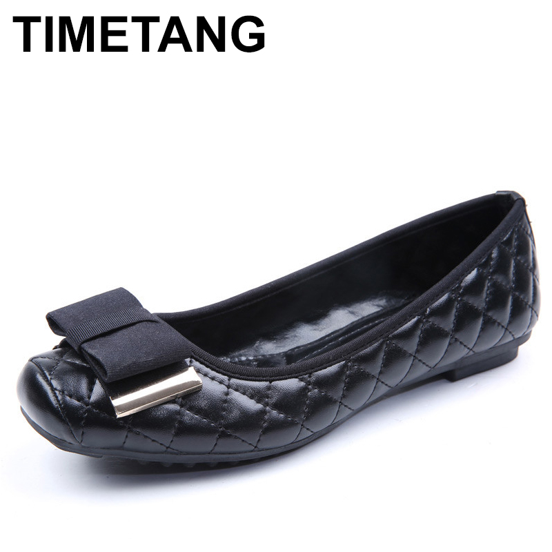 TIMETANG new arrival Spring Summer Flat Shoes Women Bowtie Slip On Women's single Shoes Ladies Casual shoes Woman  Zapatos C146 plus size 34 43 new platform flat shoes woman spring summer sweet casual women flats bowtie ladies party wedding shoes