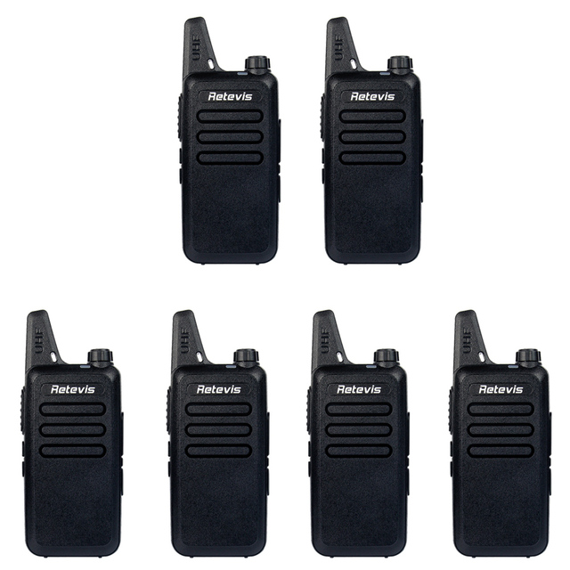 6 pcs Retevis Walkie Talkie RT22 UHF400-480MHz Transceiver 2W 16CH CTCSS/DCS TOT VOX Scan Squelch Portable Two Way Radio A9121A