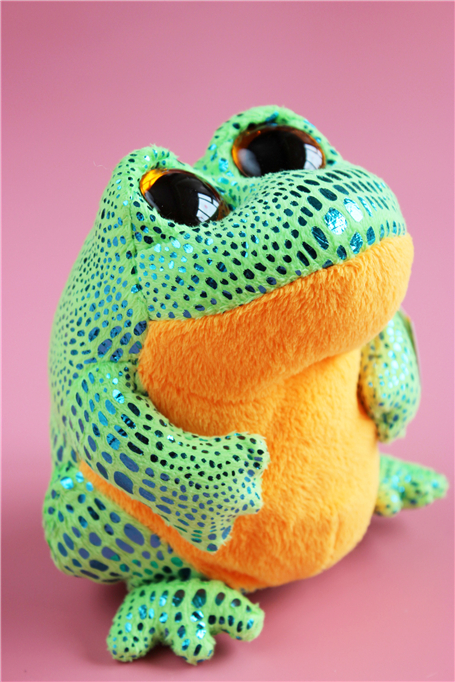 Ty Beanie Boos Cute Big Eyes Frog Stuff Animal Plush Toy Doll Kids Birthday Gift 14cm цена