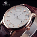 FORSINING Men Luxury Brand Watch Automatic Dress Casual Business Wristwatch Relojes Hombre Mechanical Date Leather Band Clock