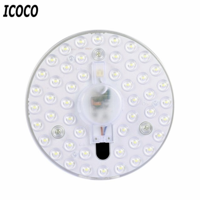 ICOCO 18W/24W LED Panel Light Ceiling Modified Lamp Board Round Light Source