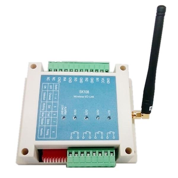 2 pcs/lot 3Km 4 canaux relais 433 mhz sans fil rf télécommande commutateur SK108 pour l'irrigation agricole