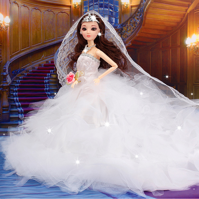 Fashion Car Furnishing Doll Wedding Dress Barbie Feathers Toys Best Gift For Kids 001 In Dolls From Hobbies On Aliexpress