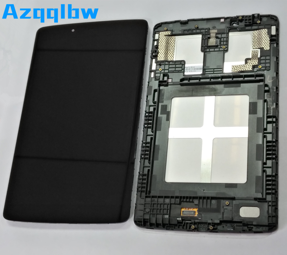 Azqqlbw Für <font><b>LG</b></font> G Pad 8,0 V480 <font><b>V490</b></font> Tablet <font><b>LCD</b></font> Display Touchscreen Digitizer Montage Für <font><b>LG</b></font> G Pad 8,0 v480 <font><b>V490</b></font> Display + Rahmen image