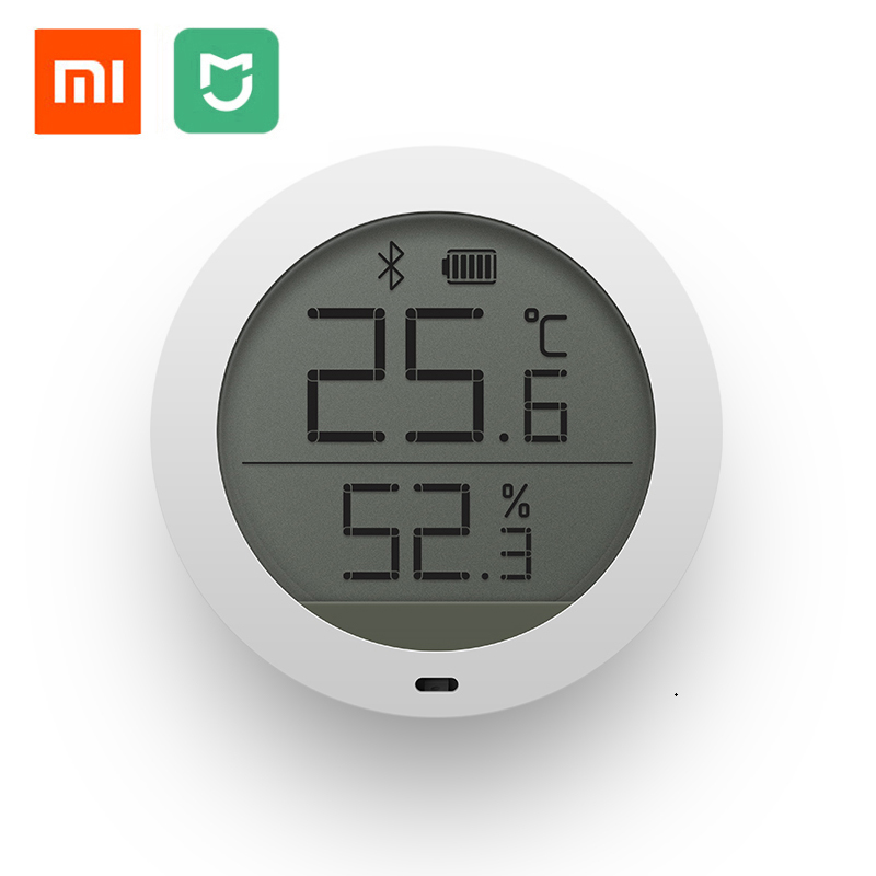 Original Xiaomi Mijia Bluetooth Temperature Smart Humidity Sensor LCD Screen Digital Thermometer Moisture Meter Mi Home APP new arrival original xiaomi mini smart home temperature and humidity sensor white
