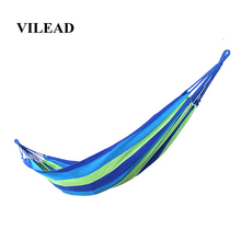 VILEAD Stable 200*80cm Hammock Ultralight Canvas Camping Bend Wood Stick steady Garden Swing Hanging Chair Rainbow color