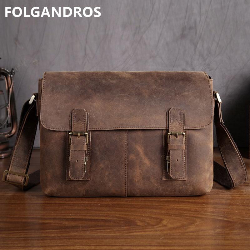 Men/'s Handmade Vintage Genuine Leather Satchel Handbag Shoulder Messenger bag