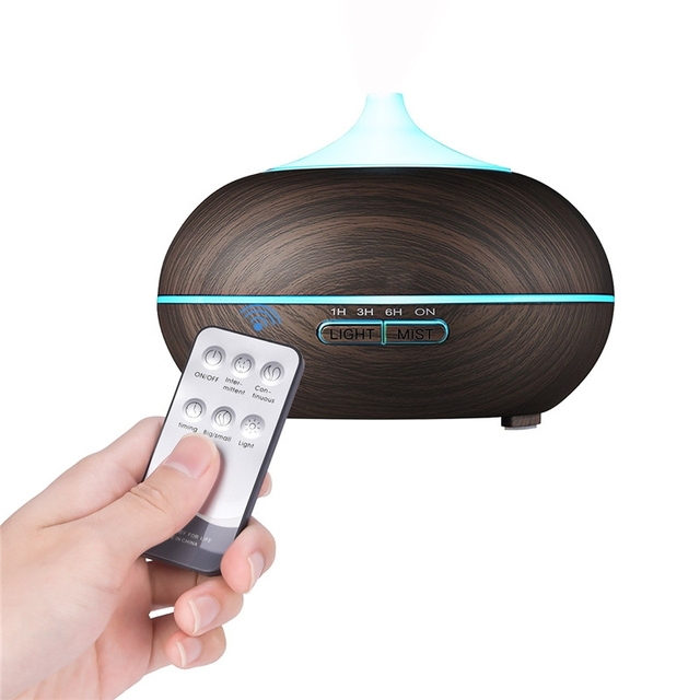 2018 Newest Wood Grain Aromatherapy Diffuser Essential Oil Diffuser 7 Changing Color Led Light Ultrasonic Air Aroma Humidifier by Chern