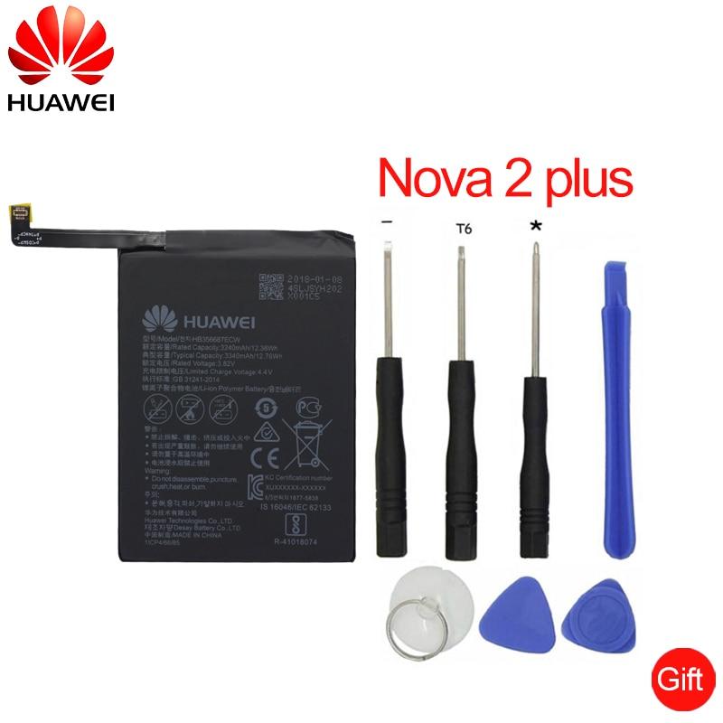Hua Wei de reemplazo de batería del teléfono HB356687ECW para Huawei Nova 2 plus Nova 2i honor 9i huawei G10 Mate 10 lite 3340 Mah
