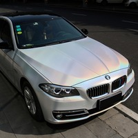 3M*1.52M Glossy Rainbow Laser White Car Body Films Vinyl Car Wrap Sticker Car Wrap Foil Decals