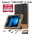 """Для Lenovo TAB3 8 """"кобура случае TB3-850F кобура TB3-850N случаях приспособление Tablet Case PU Кожаный Чехол Смарт Protector Кожи Shell"""