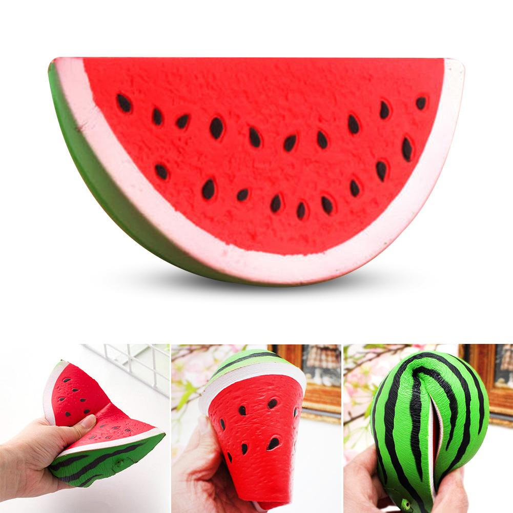 Kawaii Slow Rising Rebound Squishy Food Fruits Smile Face Watermelon Squishies Anti Stress Relieves Stress Anxiety Toys