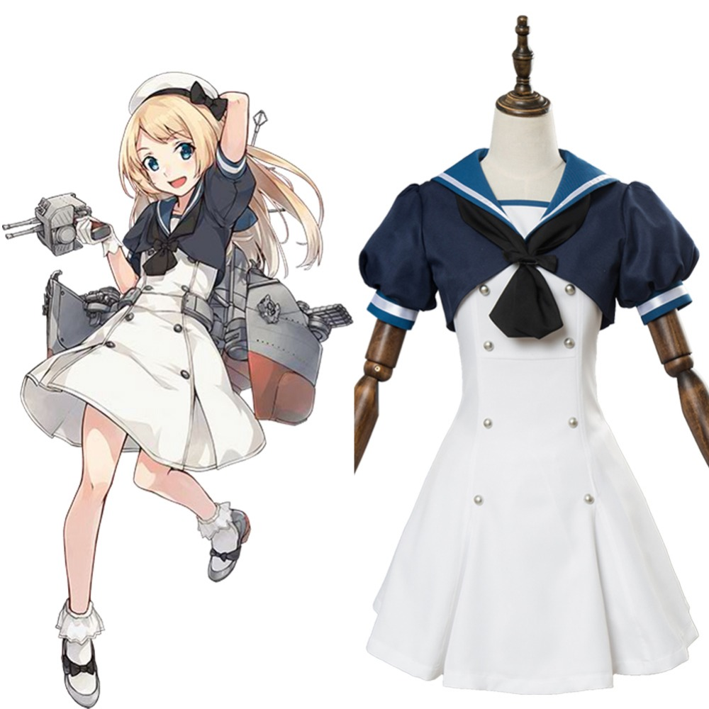 US $95 0 |Kantai Collection Cosplay Jarvis Dress Adult Women Full Sets  Hallowen Carnival Cosplay Costume-in Anime Costumes from Novelty & Special  Use