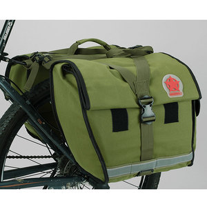 Image 3 - ROSWHEEL Retro Canvas Bicycle Carrier Bag 50L Rear Rack Trunk Bike Luggage Back Seat Pannier Cycling Storage Two Bags 14686