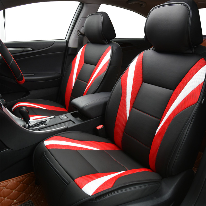 new breathable pu leather car seat covers pad fit for most cars summer cool seats cushion. Black Bedroom Furniture Sets. Home Design Ideas