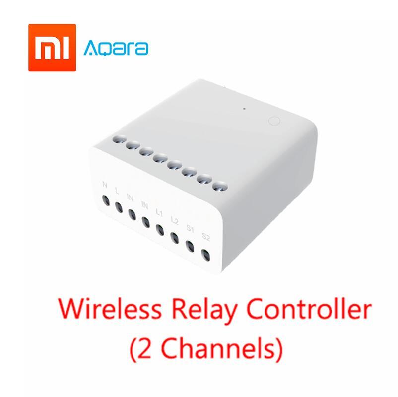 Xiao mi mi jia Aqara 2 Eigenstone Two-way Controlador de módulo de controle do Relé Sem Fio canais Trabalham Para mi jia mi casa APLICATIVO kit Casa