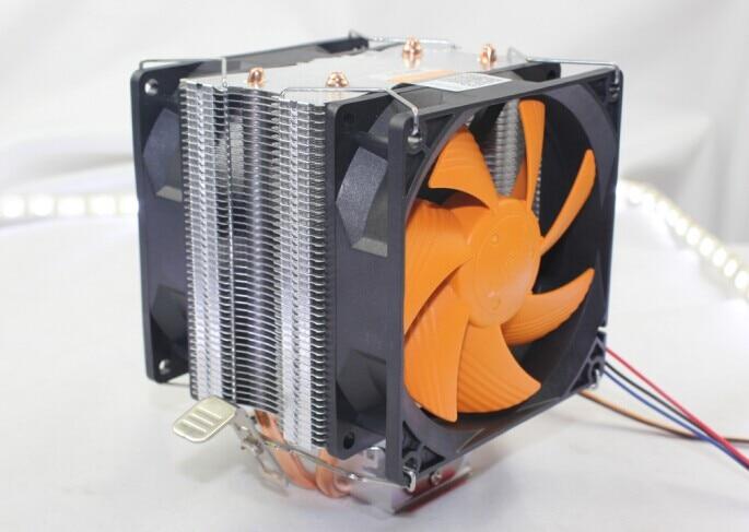 90mm, dual-fan, side-blown, for Intel LGA775/1150/1151/1156, for AMD AM2+/AM3/FM1/FM2, radiator, CPU cooler fan, AgeCooler GL7