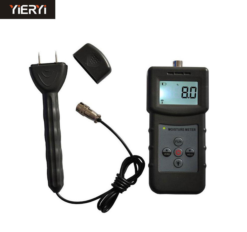 Portable  MS360 Hygrometer double function moisture meter for wood, paper, bamboo products, Chinese herbal medicin mc 7806 digital moisture analyzer price with pin type cotton paper building tobacco moisture meter