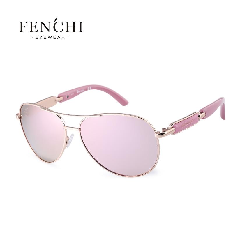 FENCHI Polarized Sunglasses Women Vintage Brand Glasses Driving Pilot Pink Mirror sunglasses Men ladies oculos de sol feminino 10