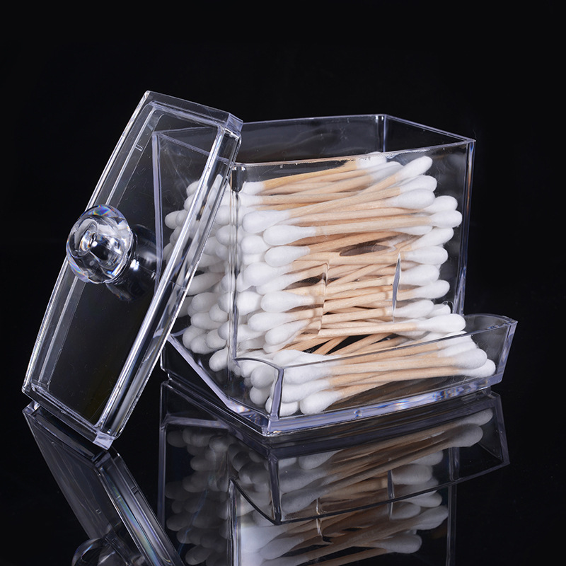 Cotton Swab Holder Storage Makeup Organizer Cosmetics Plastic Swab Container