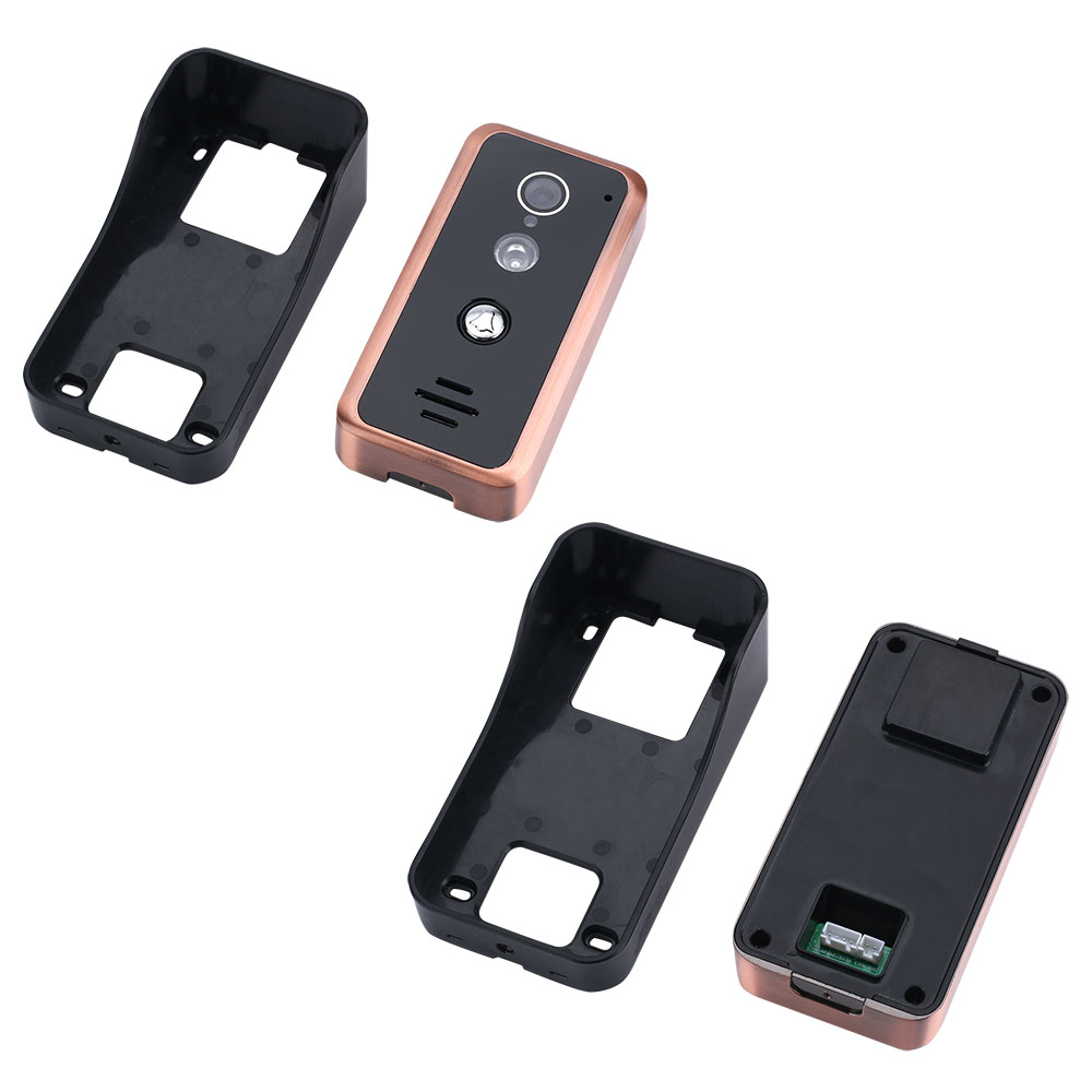 9 pouces 2 moniteurs filaire Wifi vidéo porte téléphone sonnette interphone système d'entrée avec 1000TVL filaire caméra IR CUT - 6