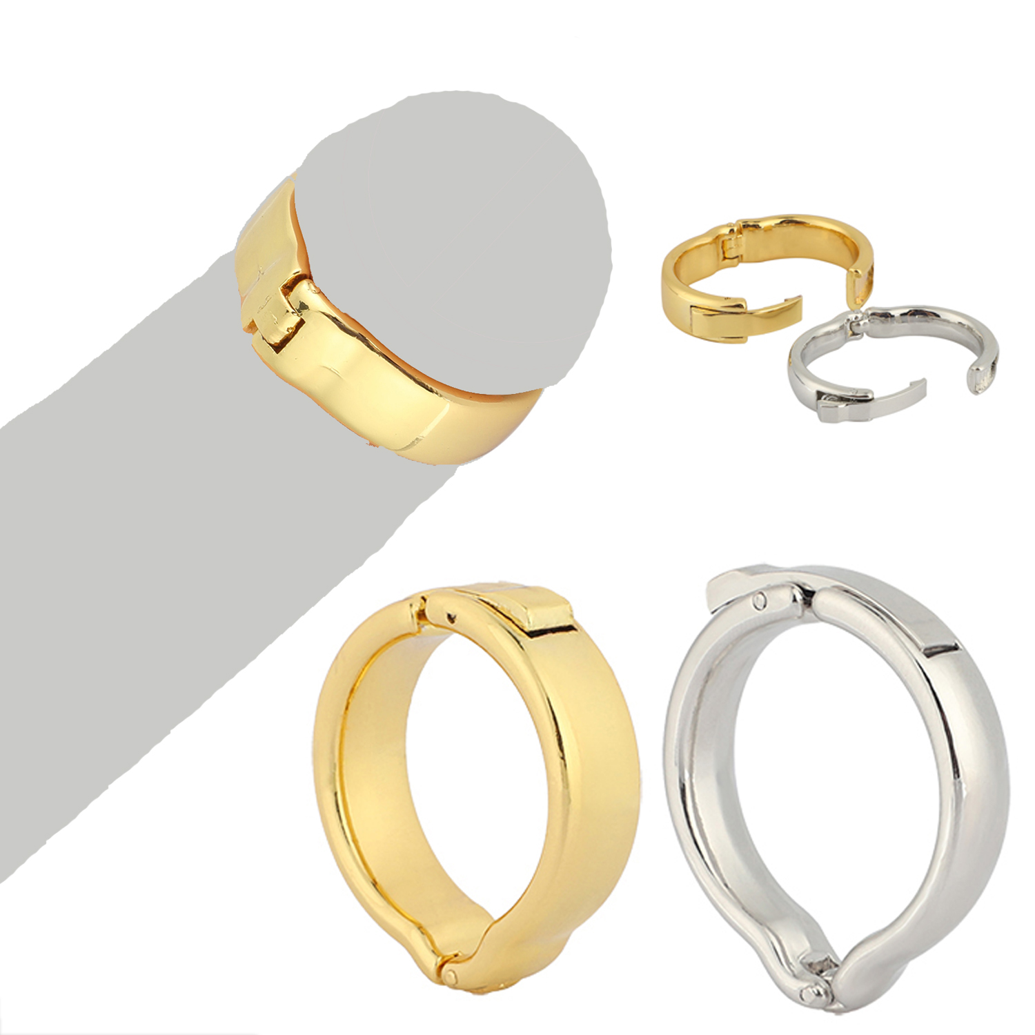 Metal Foreskin Correction Penis Ring, Adjustable Size Glans Physiotherapy Ring, <font><b>Male</b></font> <font><b>Circumcision</b></font> Ring V Type Cock Ring Sex Toys image