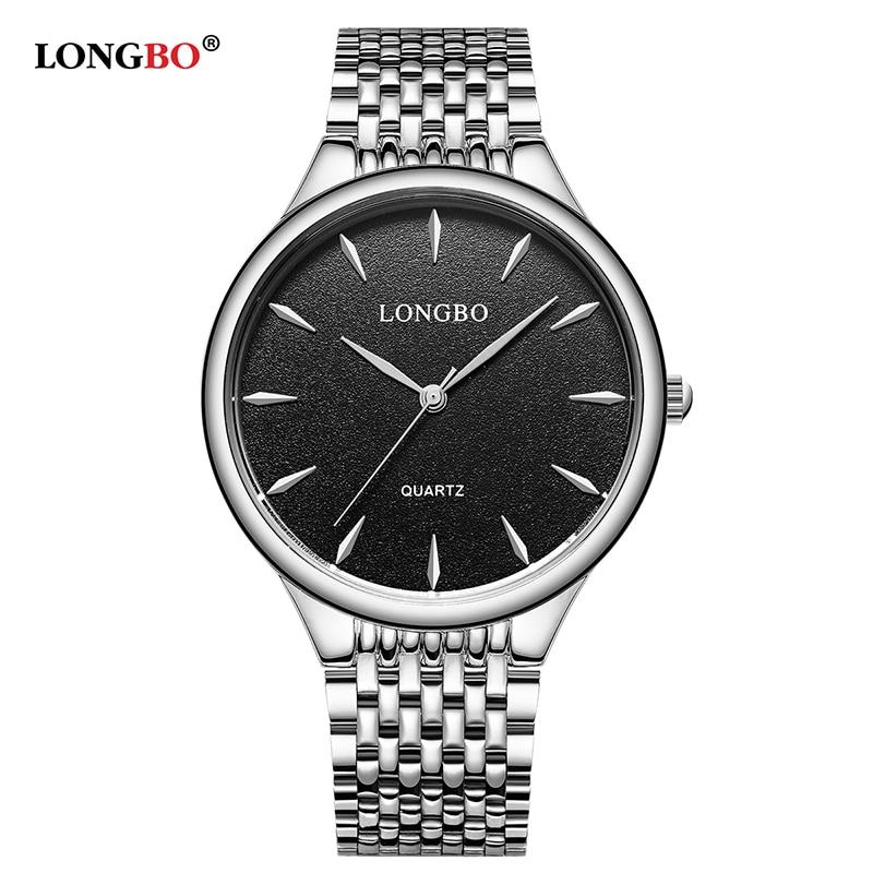 LONGBO, модные парные кварцевые часы, мужские и женские аналоговые часы, водонепроницаемые повседневные наручные часы для влюбленных, Reloj Hombre