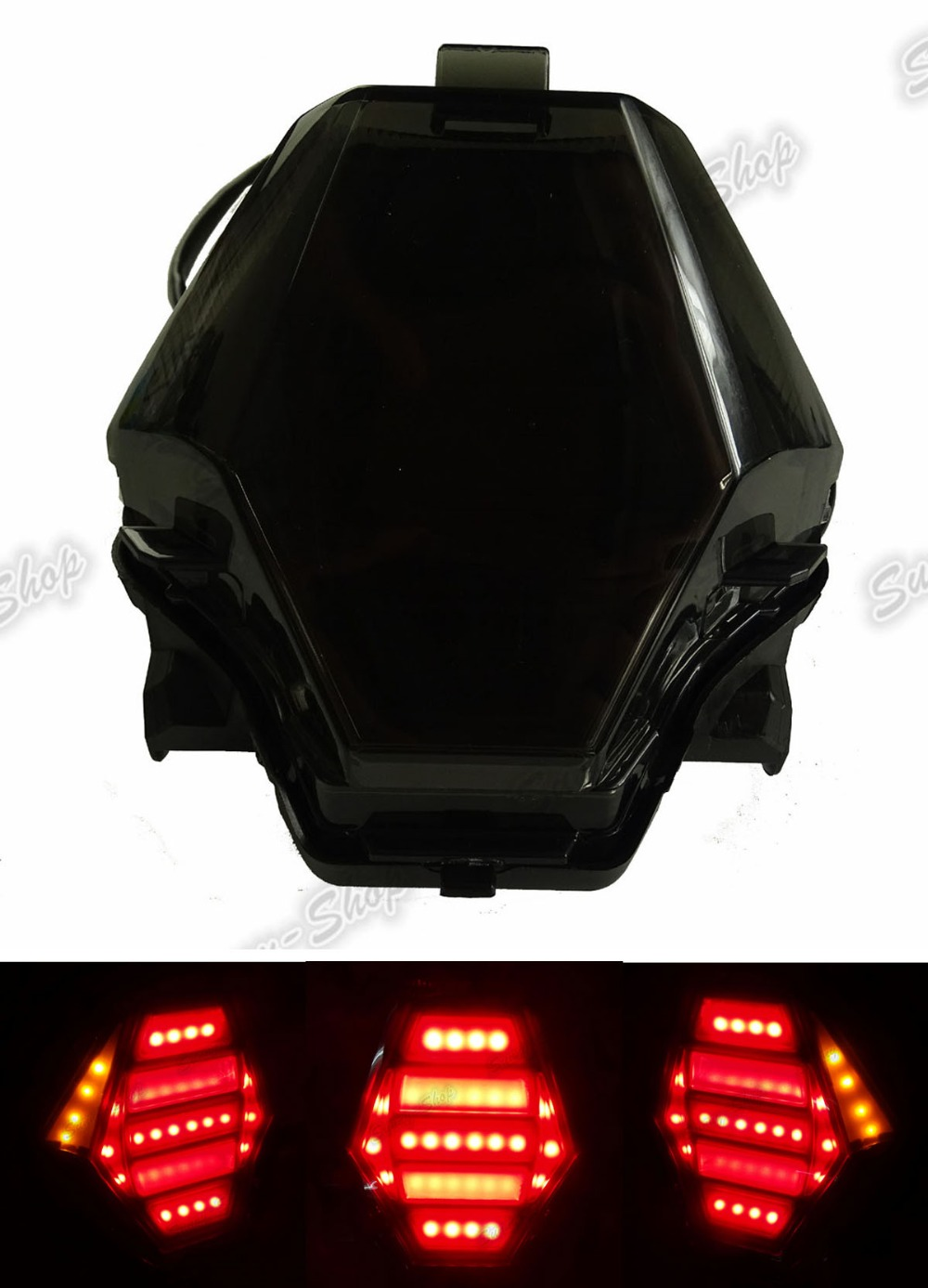 Motorcycle Rear Taillight Tail Brake Turn Signals Integrated Led Light Smoke For 2013 2014 2015 2016 Yamaha YZF R3 R25 for geely mk1 mk2 rear taillight brake lights turn signals light
