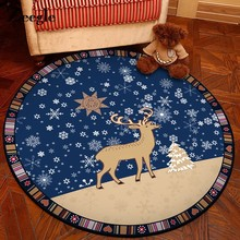Zeegle Cartoon Round Carpets For Living Room Non-slip Floor Mats Kids Bedroom Carpets Child Room Rugs Baby Crawling Blanket P(China)