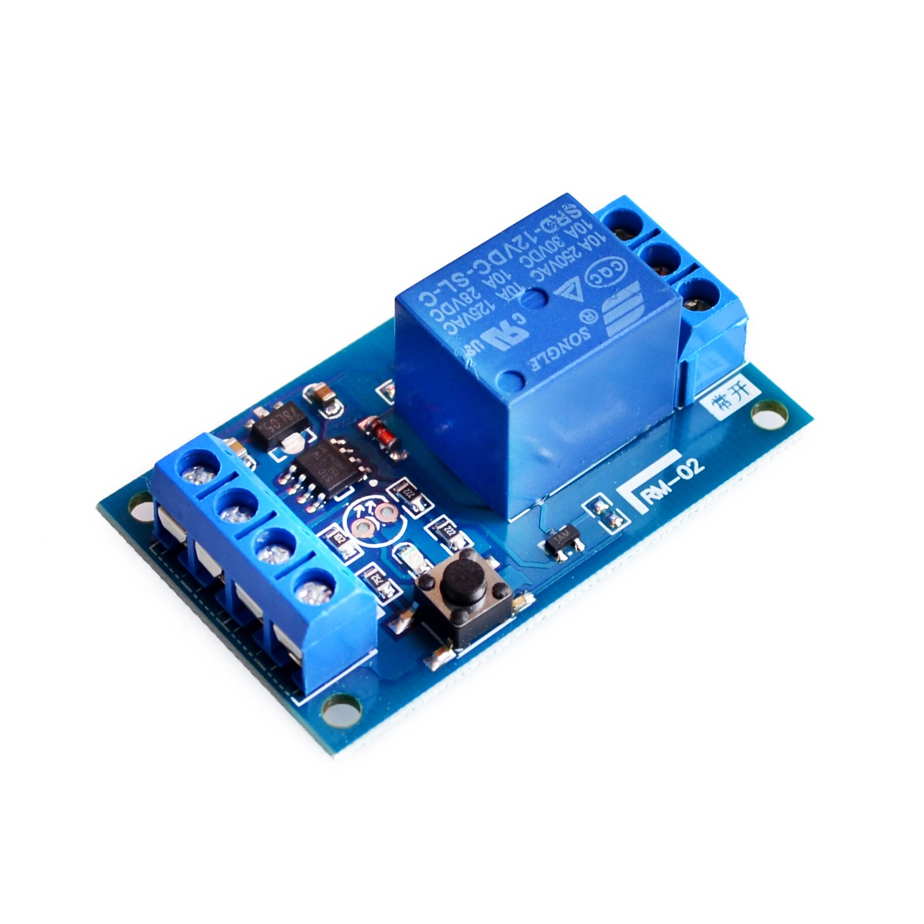 12v bond bistable relay module car modification switch one key start and stop the self locking Phoenix Contact Bistable Relay Bistable Relay Circuit