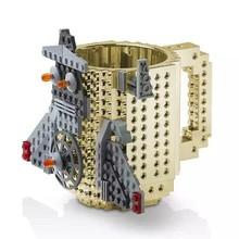 12OZ 1PCS 11 Colors Custom Lego DIY Block Puzzle Mug  Build-On Brick Self Stirring Build-on Viking