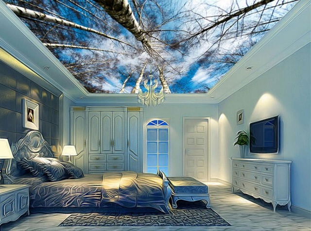 Aliexpresscom Buy 3d room wallpaper landscape ceilings