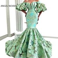Длинные элегантные женские Abendkleider 2018 зеленый Саудовская арабские вечерние платья 2019 халат de soiree