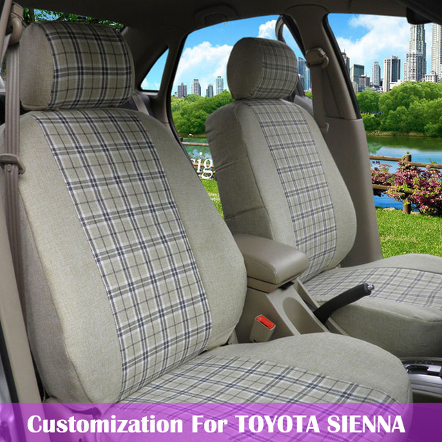 100 Coverage Custom Fit Car Seat Covers For TOYOTA SIENNA Seats Cover Linen Cloth