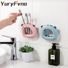 YuryFvna 벽 마운트 귀여운 칫솔 홀더 3 위치 흡입 칫솔 스탠드 주최자 안티 박테리아 욕실 액세서리