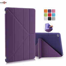 4 Shapes Stand Design Magnetic Leather Case for ipad 6 Smart Cover for Ipad air 2 Slim Fashion