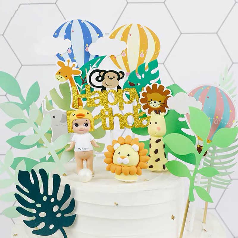 Festa De Aniversário da Selva Omilut Pratos Descartáveis Talheres Descartáveis Animal Da Selva/Copos/Guardanapos Fontes Do Chuveiro de Bebê Decoração Safari