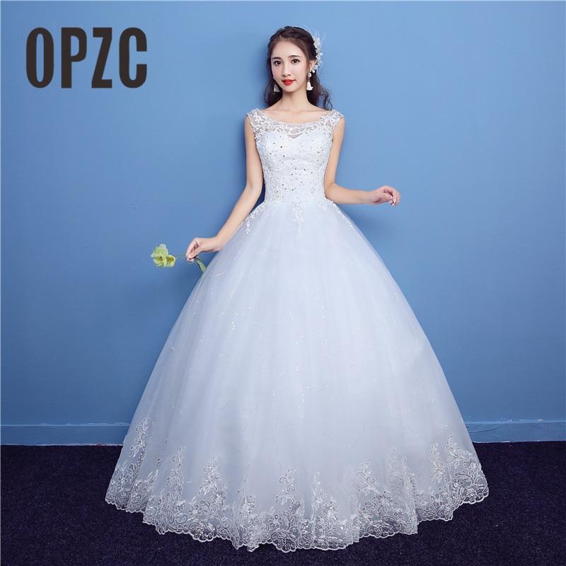 f8faa317e7c9 Embroidery Lace wedding dress 2017 New Fashion Simple with Appliques Bridal  Wedding Gown Princess vestido de