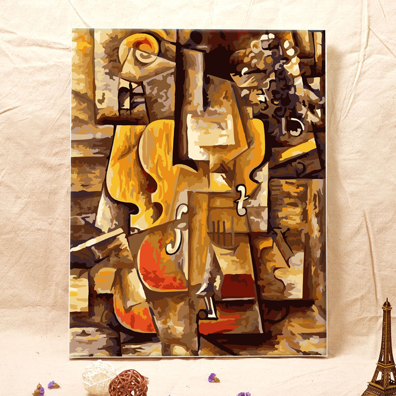 Picasso classical abstract oil paintings DIY canvas wall paintings oil painting by numbers picture by numbers in Painting Calligraphy from Home Garden