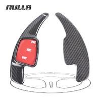NULLA for AUDI A3 A4L A5 Q7 TT TTS S4 Q2 S3 SQ5 2016 2017 Car Sticker Carbon Fiber Steering Wheel Paddle Shift Extension Shifter