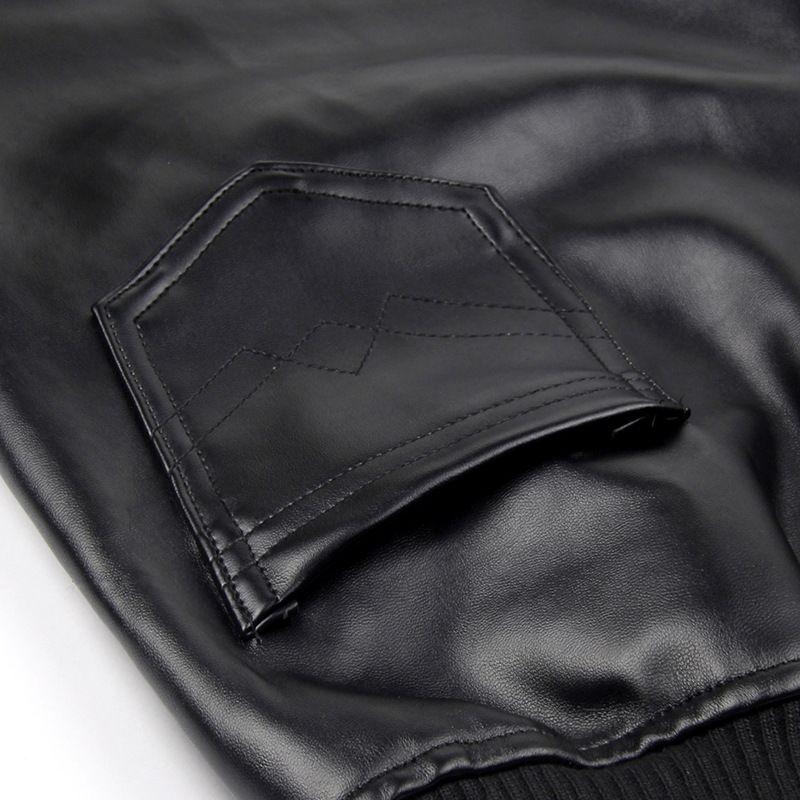 Trousers Black G091003 Wide Pu 01 Leather Punk Joggers Windproof Fashion Leg Pants Faux 2017 Pant Women's Motorcycle 0Pf14qgwx