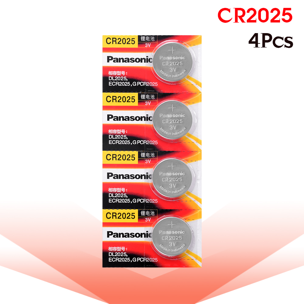 Cr 2025 3V Lithium Coin Battery 4PCS/LOT Panasonic Original Cr2025 Button Cell Batteries For Watch Calculator Weight Scale