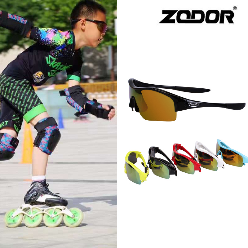 Kids Speed Skating Glasses Children Teenager Skateboard Inline Speed Skates Race PC Glass Wear Eyewear Age Under 18 Years Old