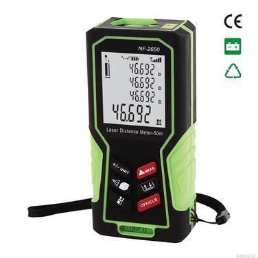 Free Shipping NOYAFA NF-2650 50M Digital Remote Measuring Equipment Laser Distance Meter