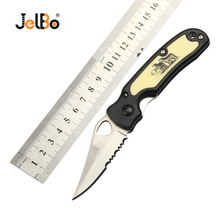 цена на JelBo Portable Knife Mini Fruit Knife Outdoor Multifunctional Pocket Knife Camping Hunting Survival Tools Folding Knife Blade