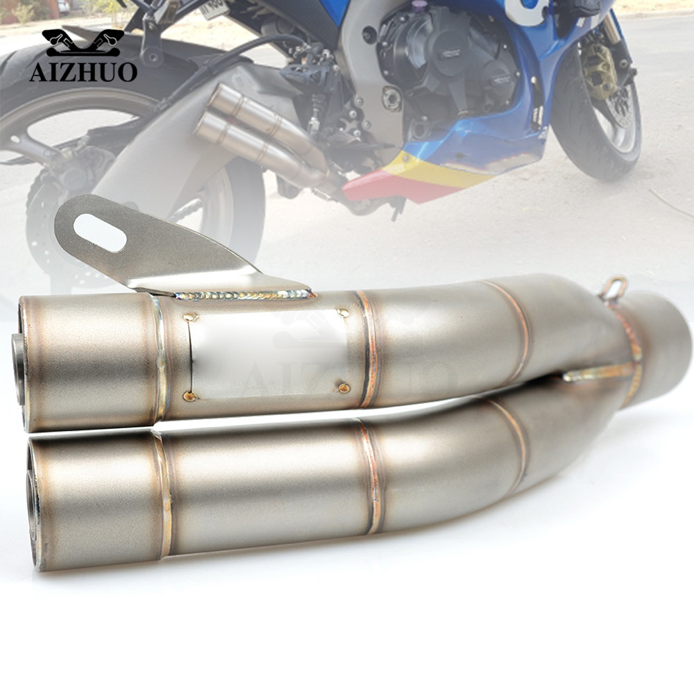 51mm Motorcycle Pit Bike Accessories Exhaust Muffler Pipe For honda msx 125 cb190r cb1000r cb500x yamaha ybr 125 xmax 300 5mm m5 motorcycle accessories rubber well nuts for honda nc750x cbr 600 rr cb1000r cbr1000rr crf 450 yamaha xmax 300 ktm duke