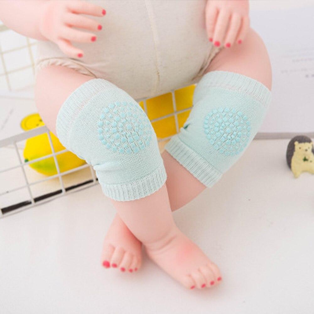 Детские аксессуары, новые модные детские наколенники для ползания, защитные наколенники для ходьбы, защита коленей, нескользящая силикагель
