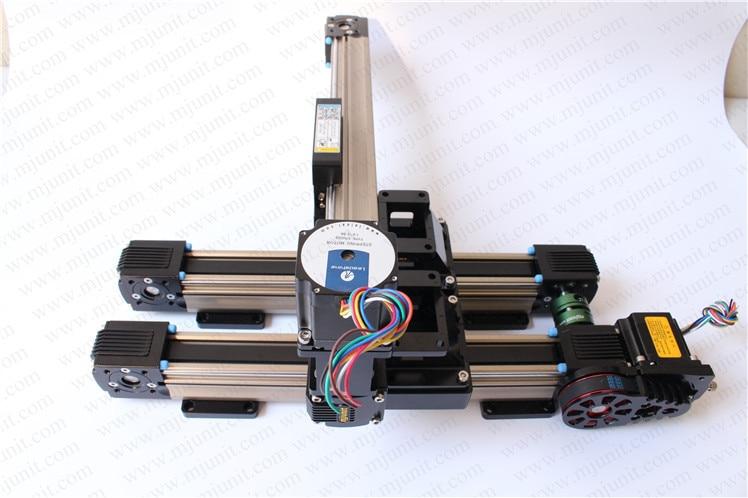Nema 23 linear rail  42 linear guiderail 57 guideways belt drive toothed belt drive motorized stepper motor precision guide rail manufacturer guideway