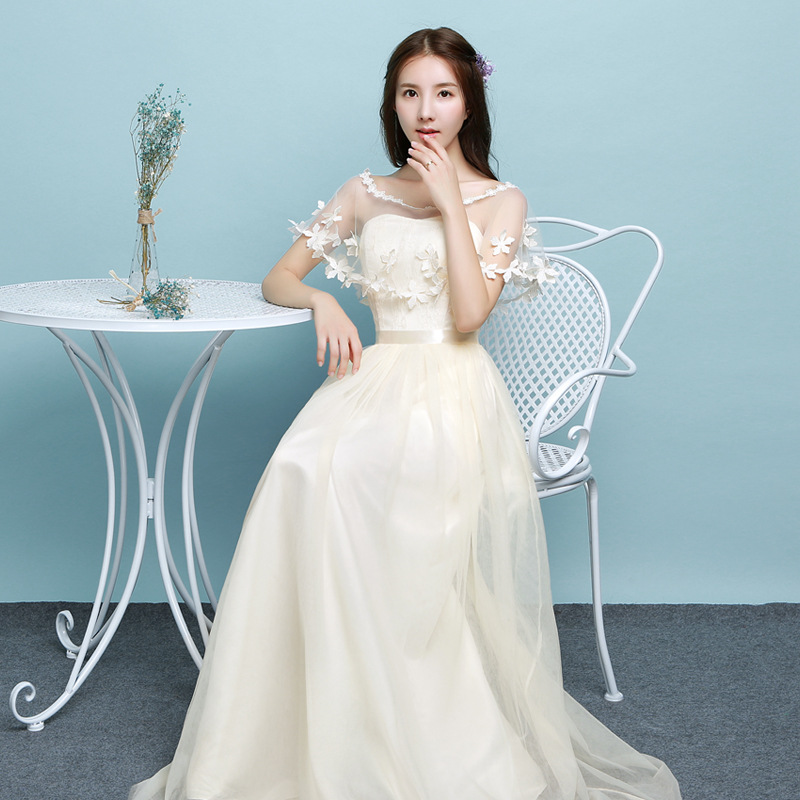 Popodion long bridesmaid dresses sister wedding party dress ...