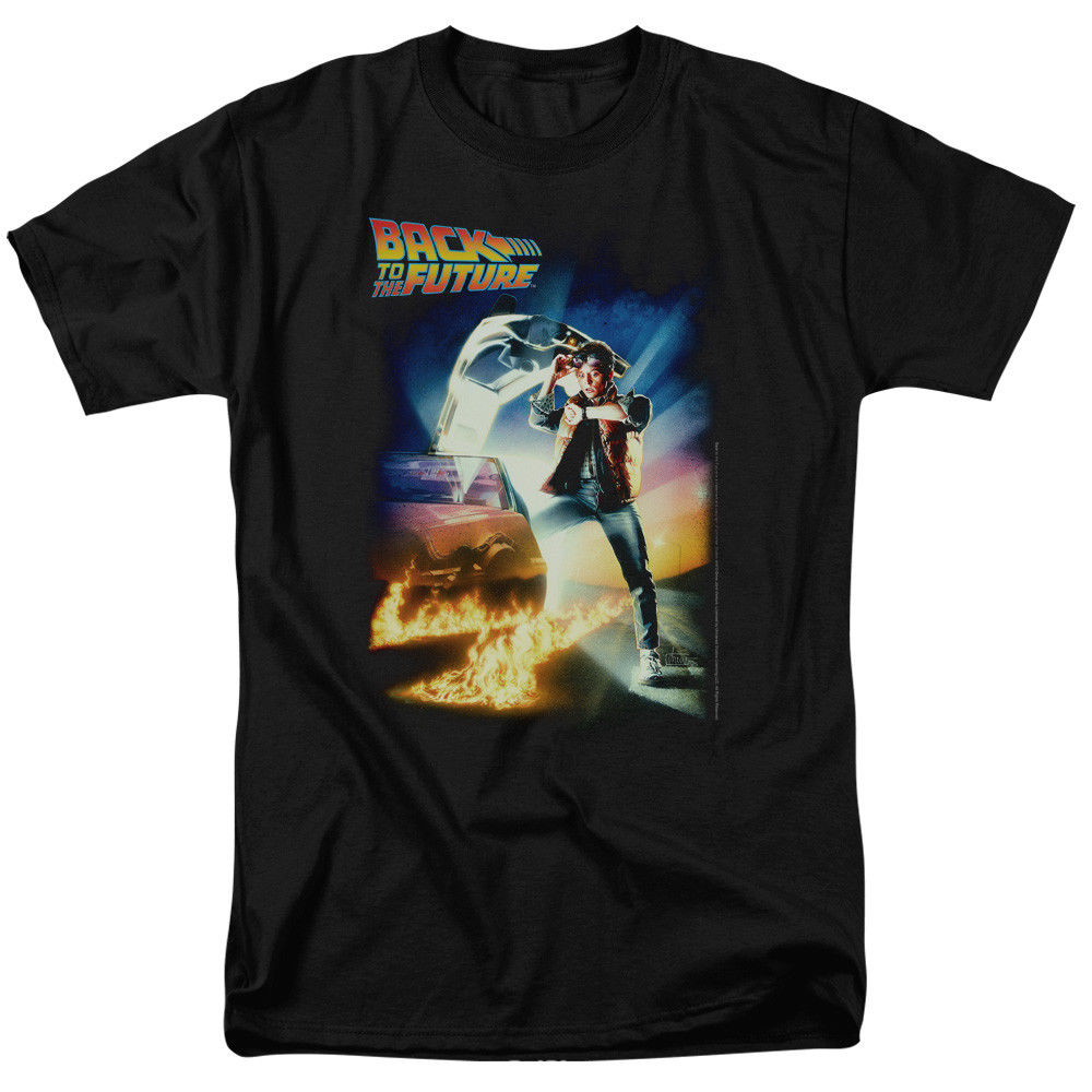 Back To The Future Poster T-shirts for Men Free Shipping Men T Shirt 2018 New Summer Men Hot Sale Fashion